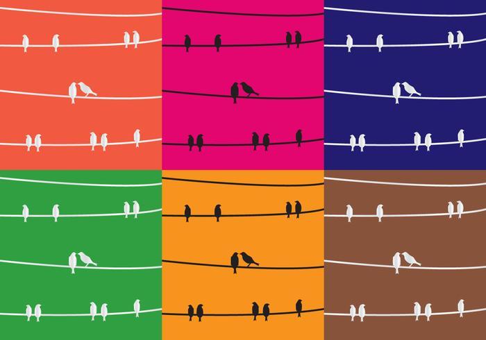 Texture Birds sulla decorazione filo vettore