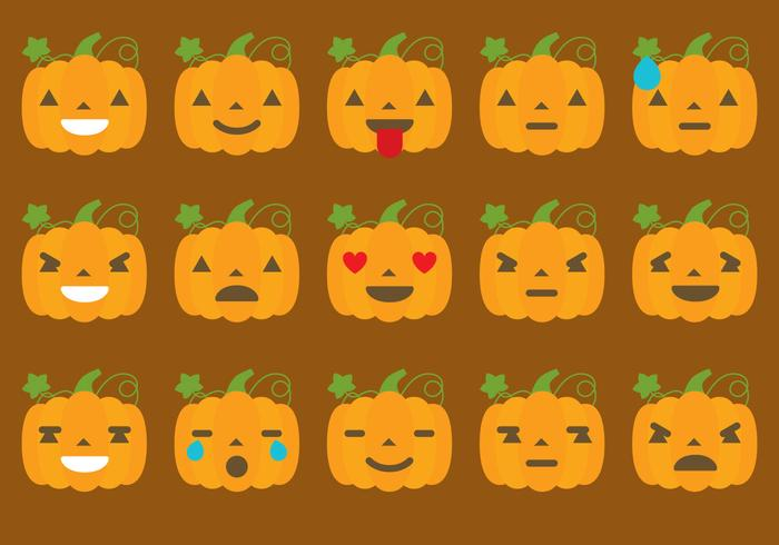Calabaza Emoticon Vectores