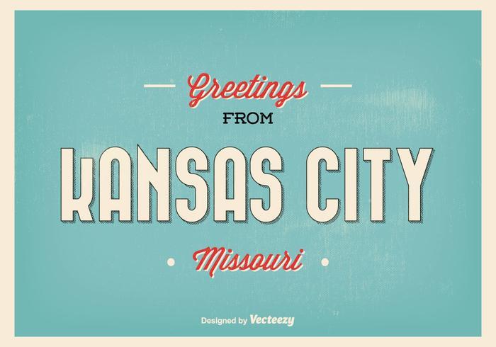 Ilustração do cumprimento de missouri do Kansas City