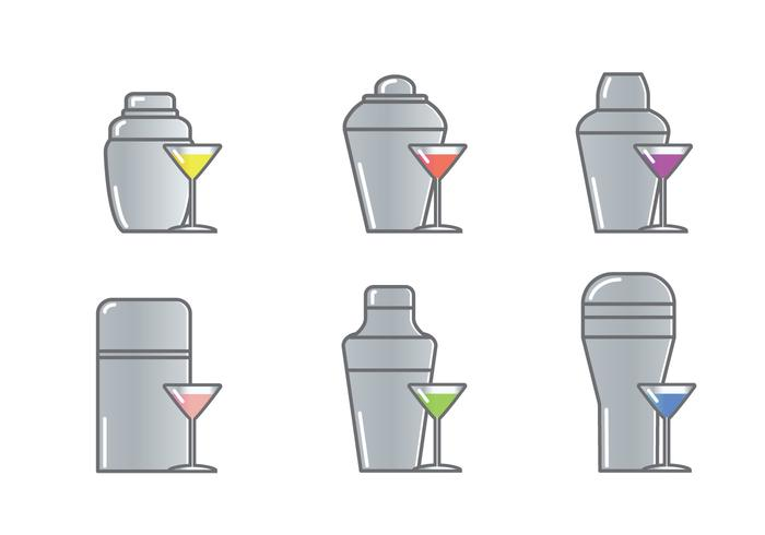 Cocktail Shaker Icon Vector