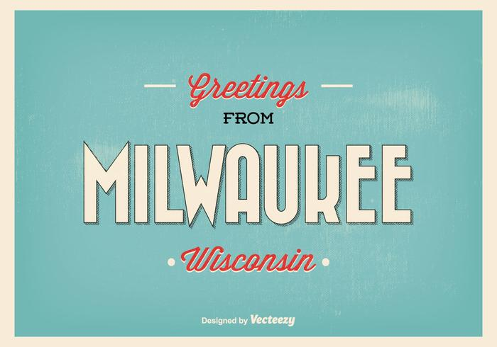 Milwaukee retro greeting illustration vecteur