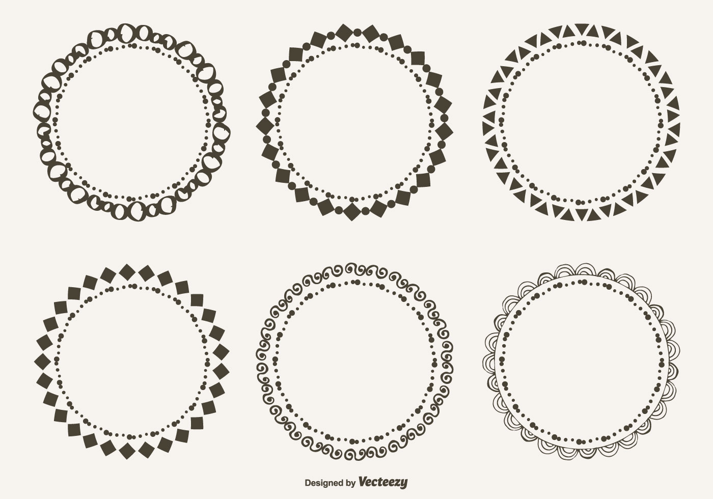 Cute Hand Drawn Style Doodle Frame Set - Download Free ...