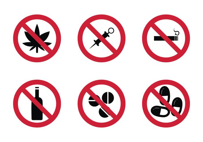 Gratis No Drugs Vector Icon