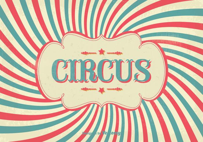 Cartaz do circo do vintage
