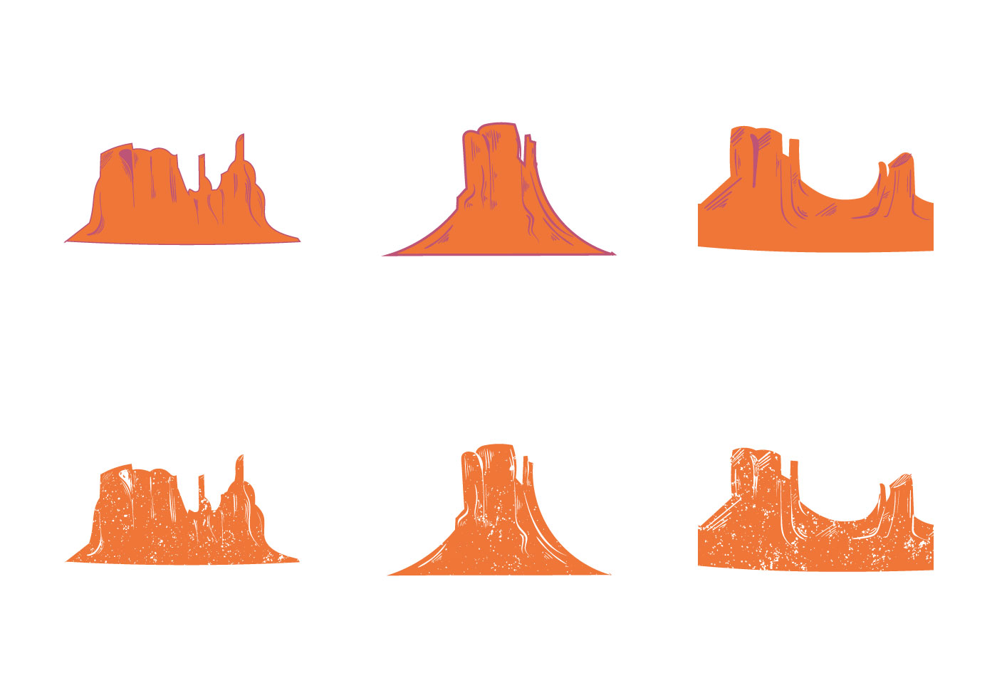 Free Grand Canyon Vector Silhouette Download Free Vector