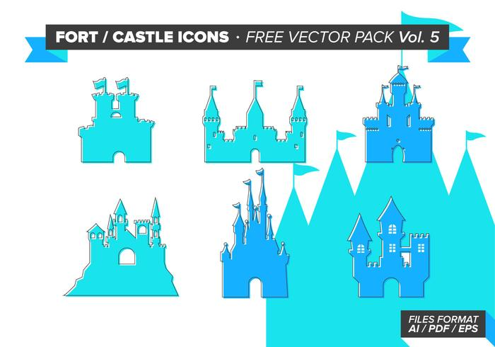 Fort Castle Icons Gratis Vector Pack Vol. 5
