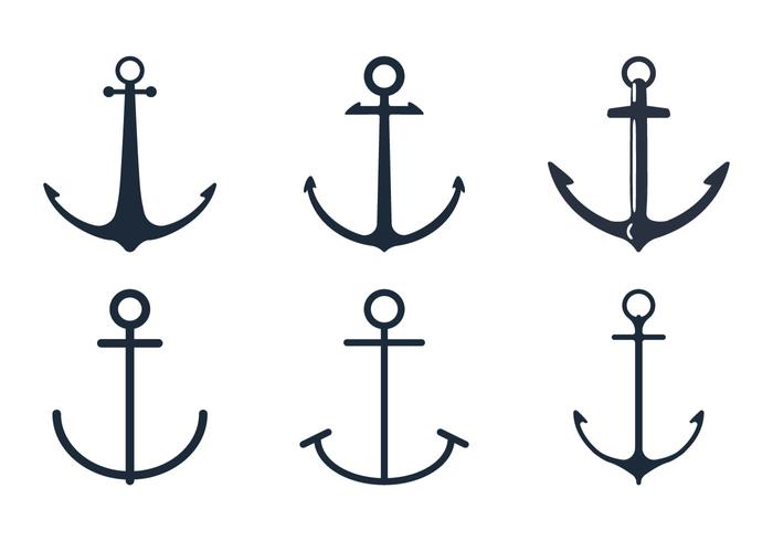 Anchor Icon Set - Download Free Vector Art, Stock Graphics & Images