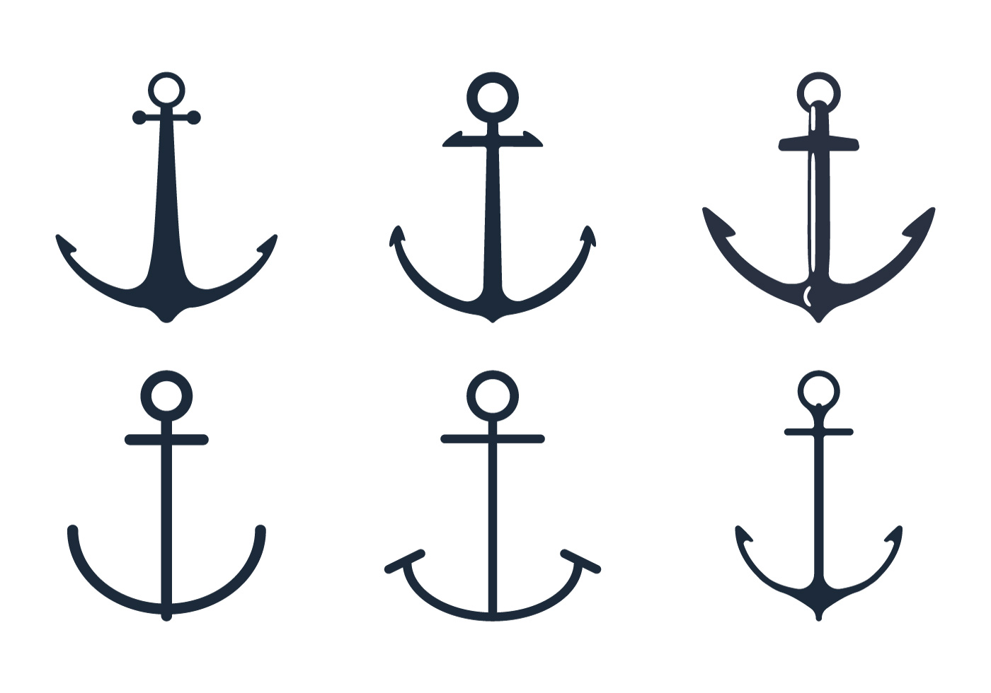 Anchor Icon Set Download Free Vector Art Stock Graphics