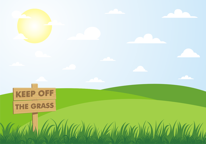 Keep Off The Grass Background Free Vector