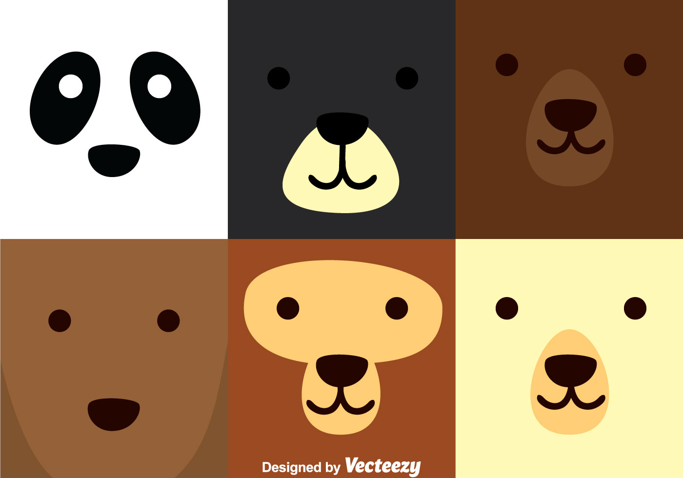 Set Of Cartoon Childrens Faces Stock Vector Art More: Download Free Vector Art, Stock
