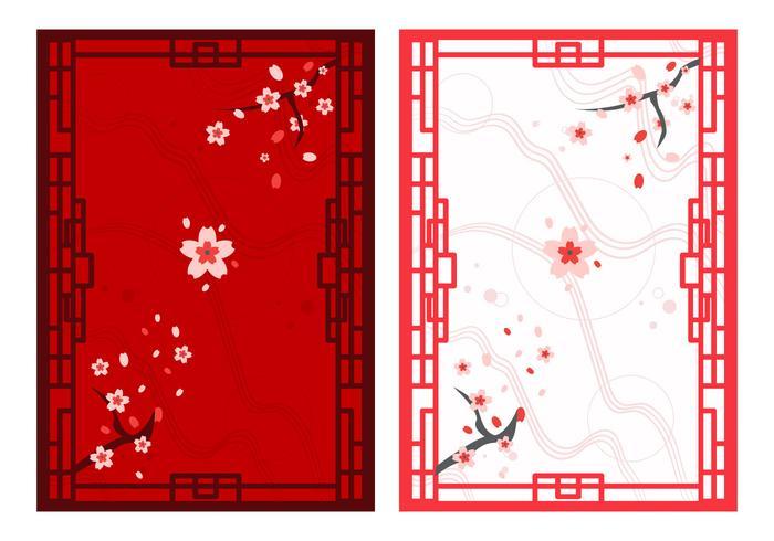Gratis vackra japanska ornament vektor