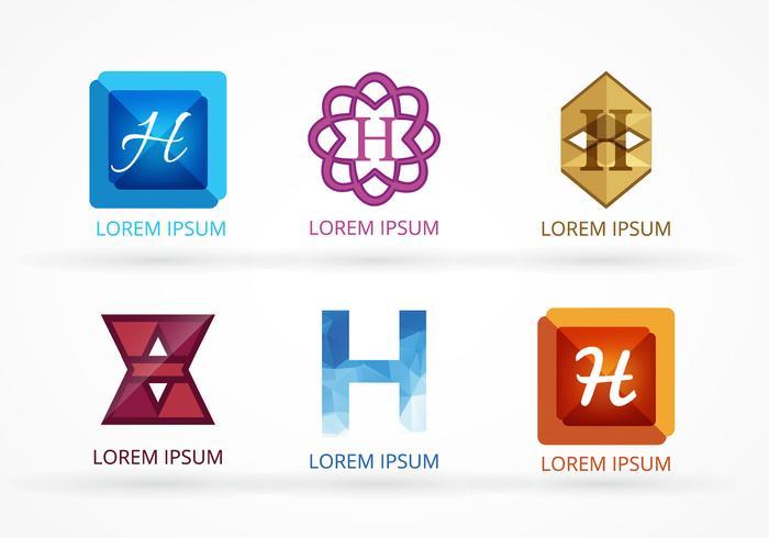 Conjunto de logotipos de hotéis vetoriais