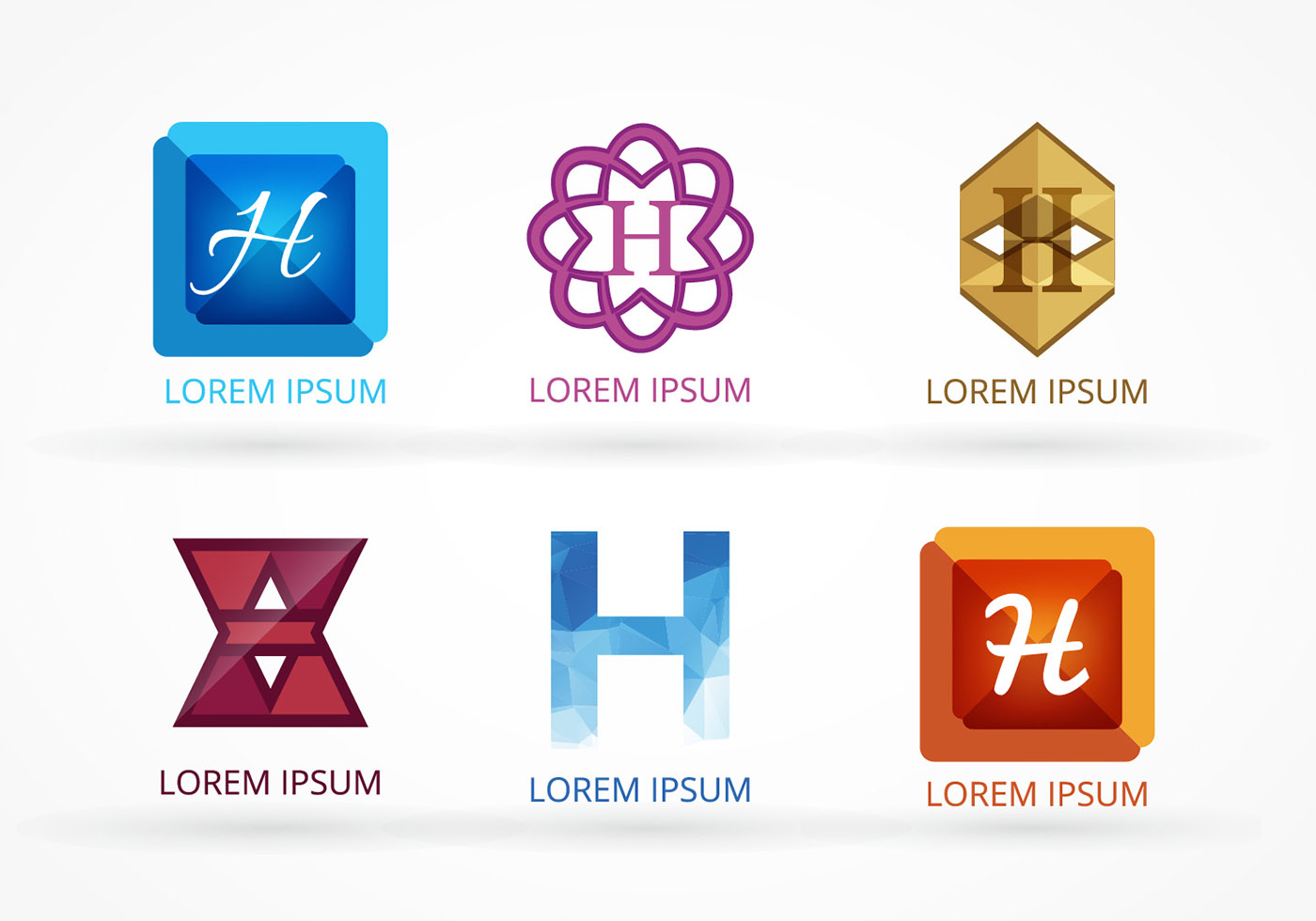 set of vector hotel logos download free vector art