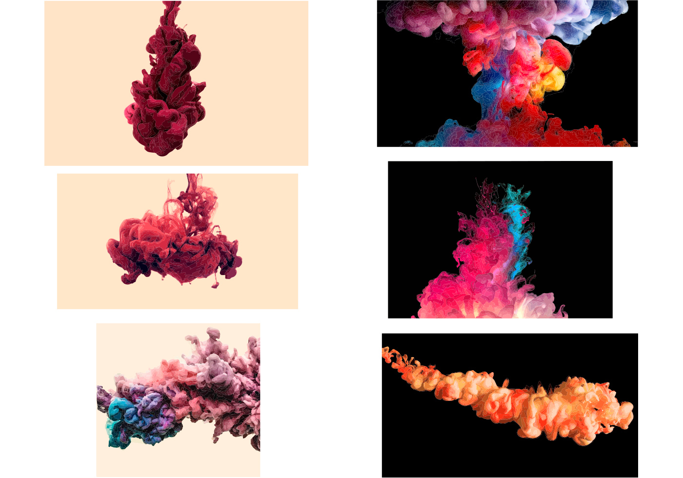 Colored Smoke Vector Effect - Download Free Vector Art ...