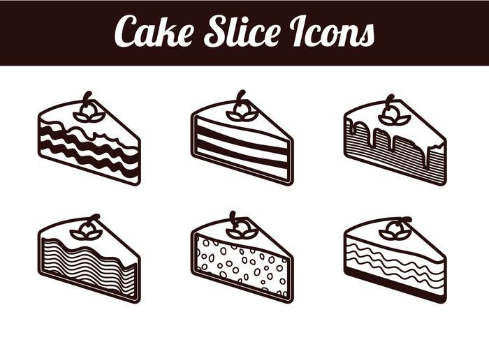Cake slice isolated vectors - Download Free Vector Art ...