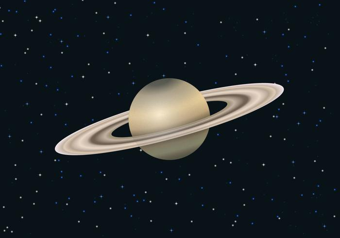 Fri Saturn Planet Vector