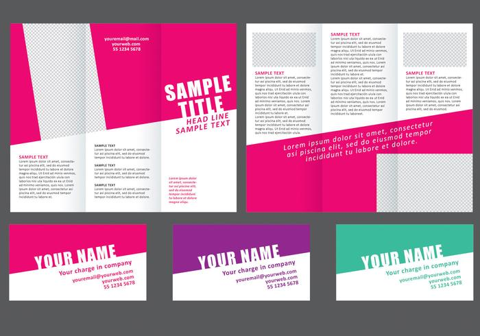 minimal colorful fold brochure download free vector art stock