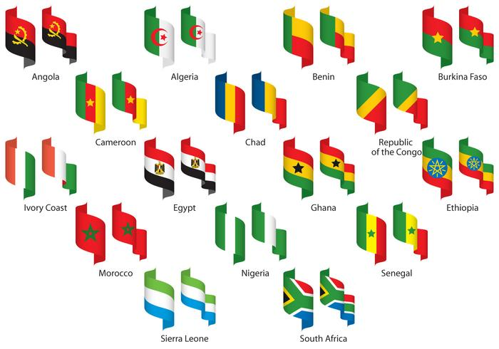 Africa Ribbons vector