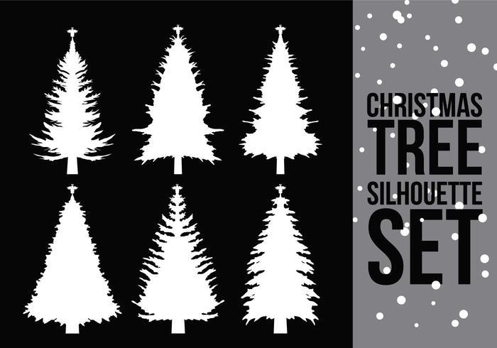 Weihnachtsbaum Silhouette 2 vektor