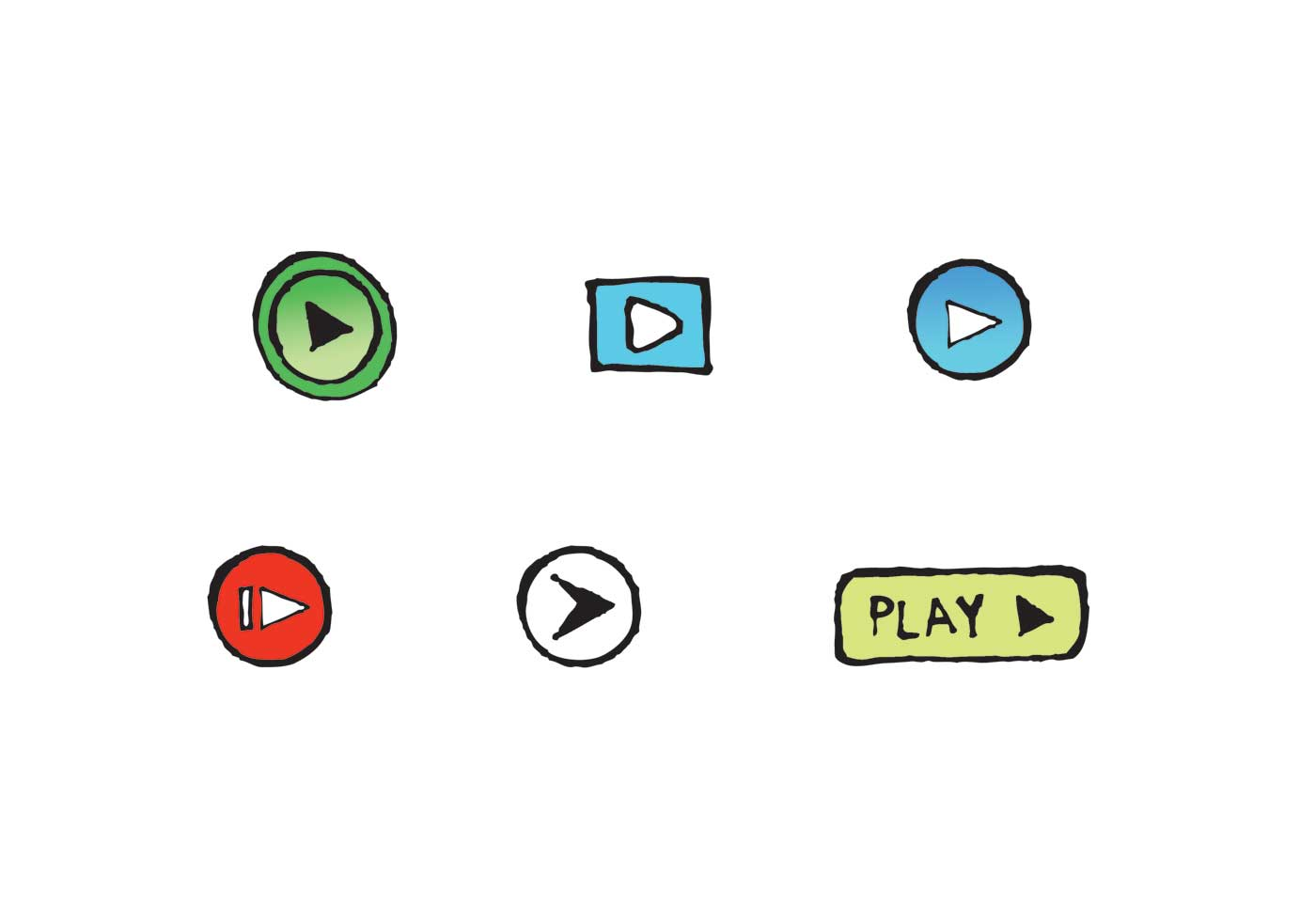 Free Play Button Icon Vector Series - Download Free Vector Art, Stock Graphics & Images