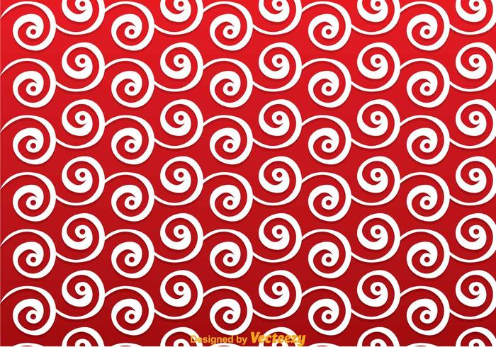 Red Swirly Background vector