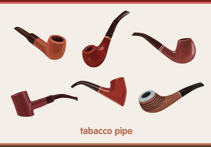 Tobacco pipe vectors