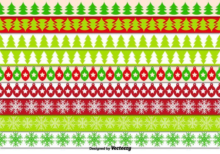 Frontières décoratives de Noël