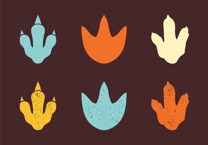 Dinosaur Footprint conjunto de vectores