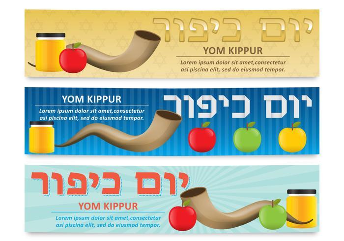 Yom Kippur Banners vector