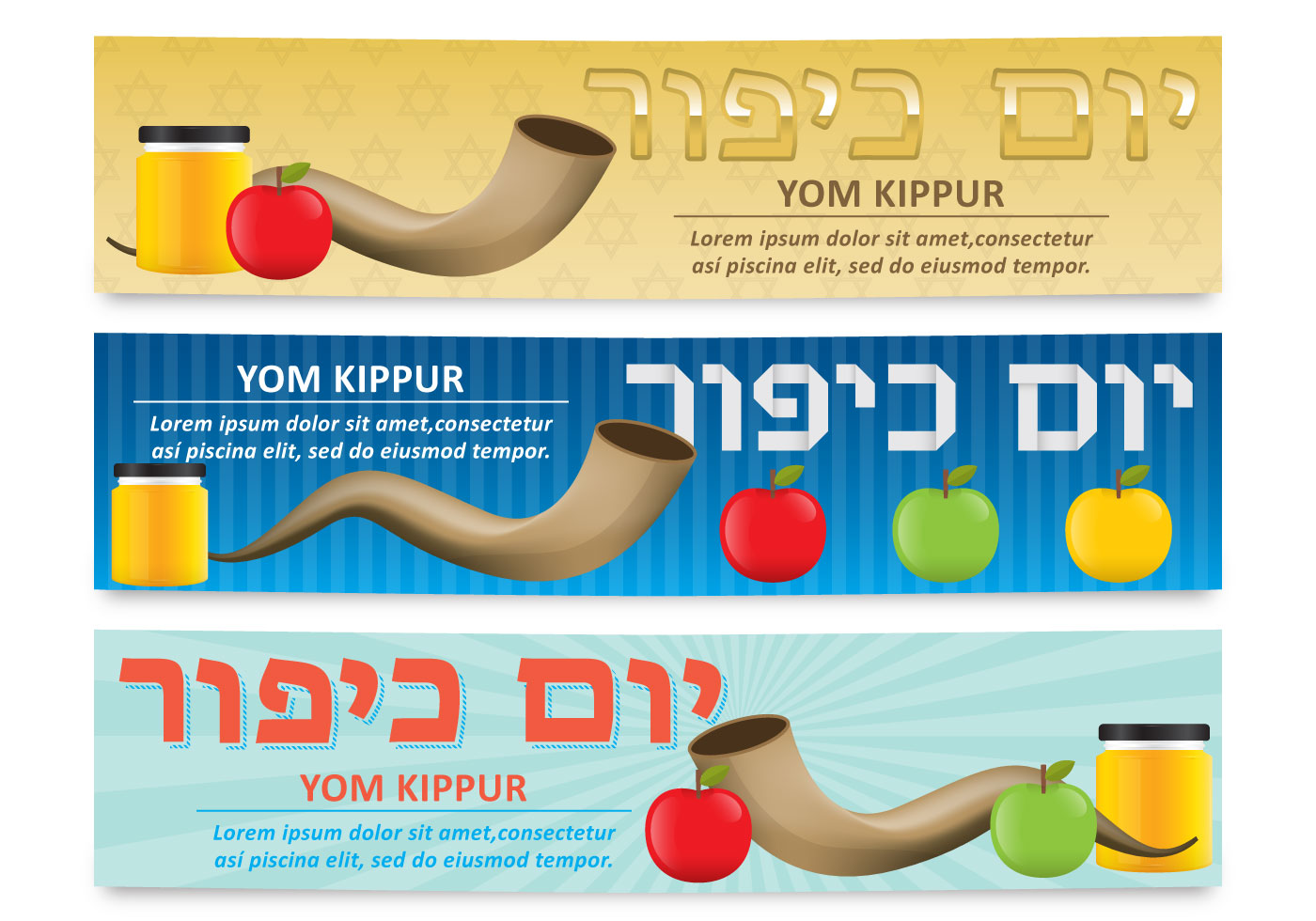 Yom Kippur Banners Download Free Vector Art Stock Graphics Images