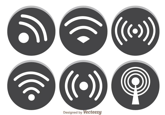Grijs Wifi-symbool