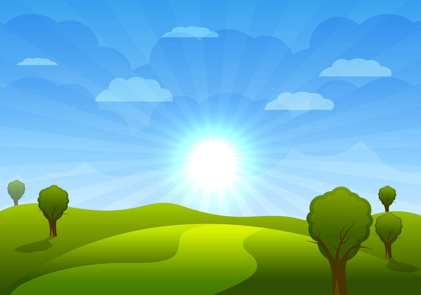 vector cartoon landscape backgroundsfree - photo #3