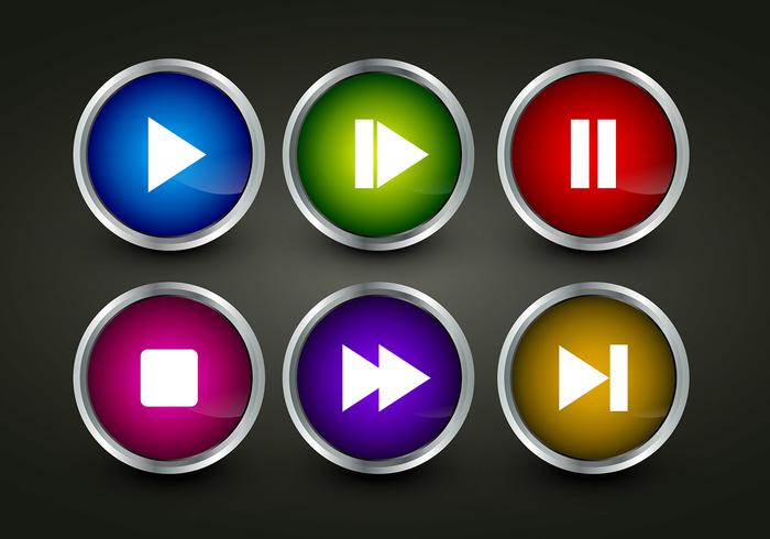 Play Button Icon vectors