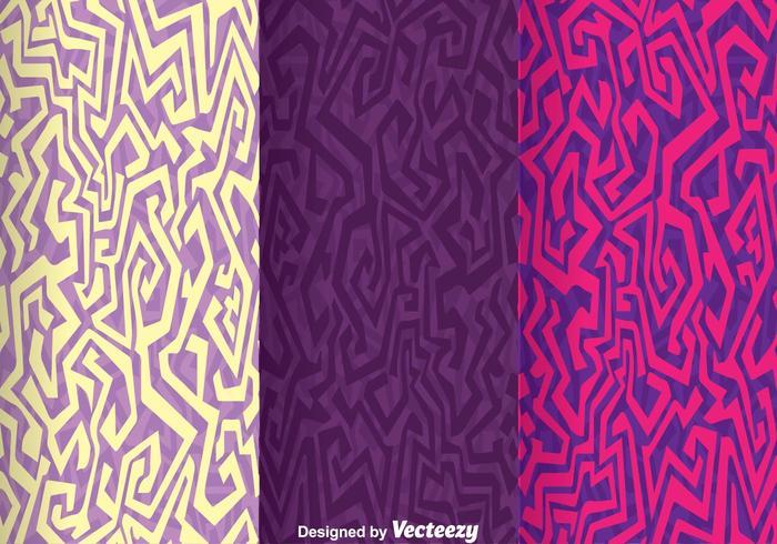 Ethnic Purple Background Vector