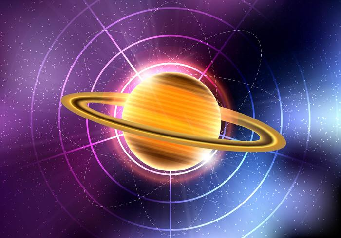 Saturn planet vector