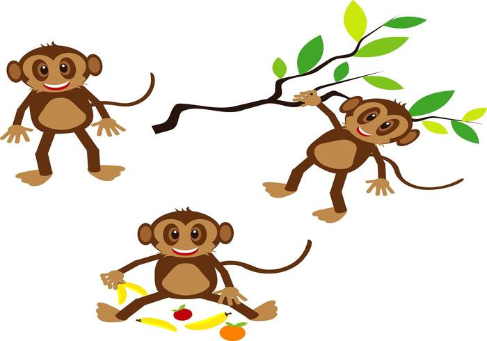 HAPPY MONKEY VECTORS