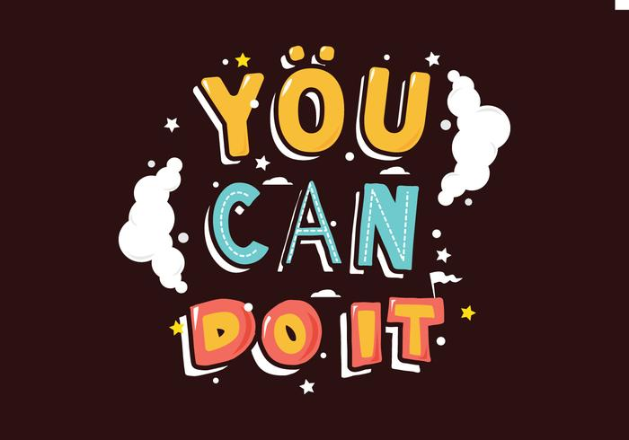You Can Do It Illustration