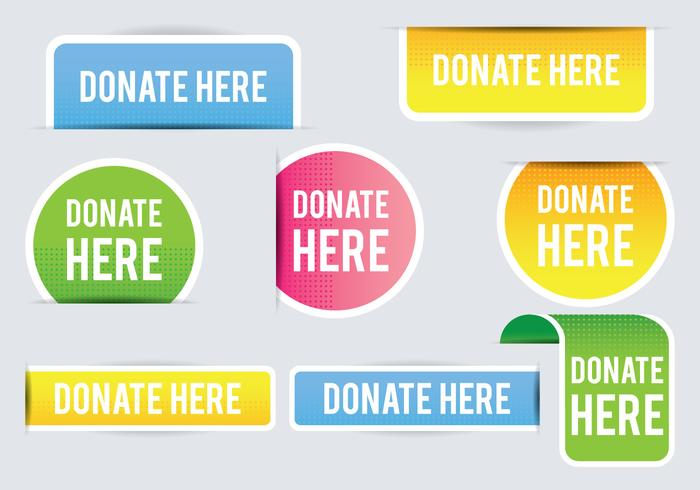 Donate Banner vector