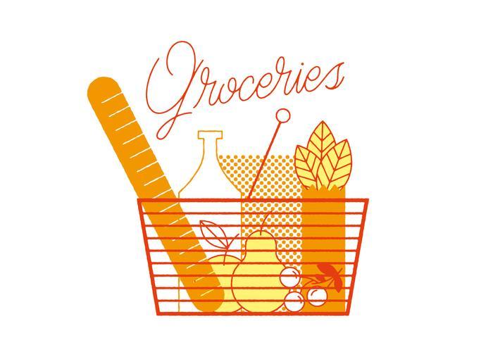 Gratis Groceries Vector