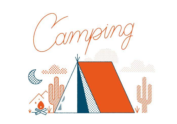 Kostenlose Camping Vektor