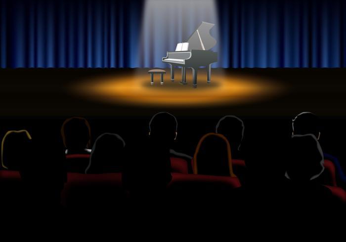 Recital de piano del vector - Descargue Gráficos y Vectores Gratis