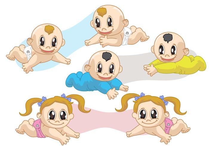 Twin Babies Vectors
