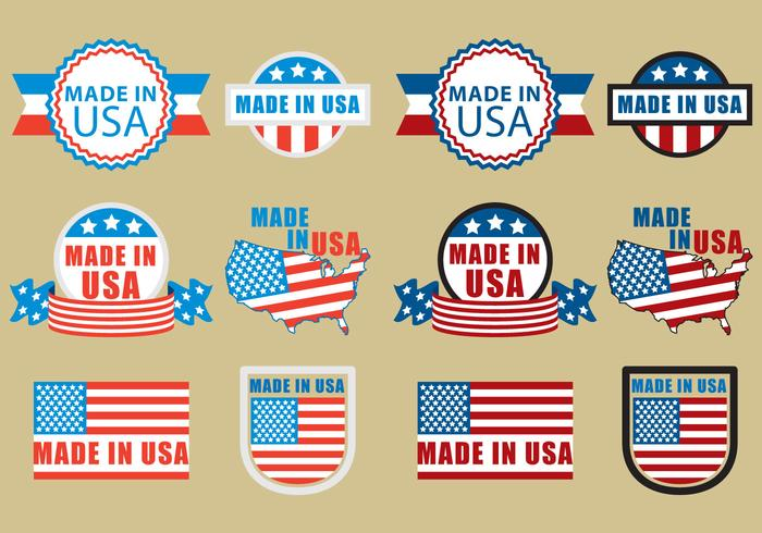 Made In USA Badges vector
