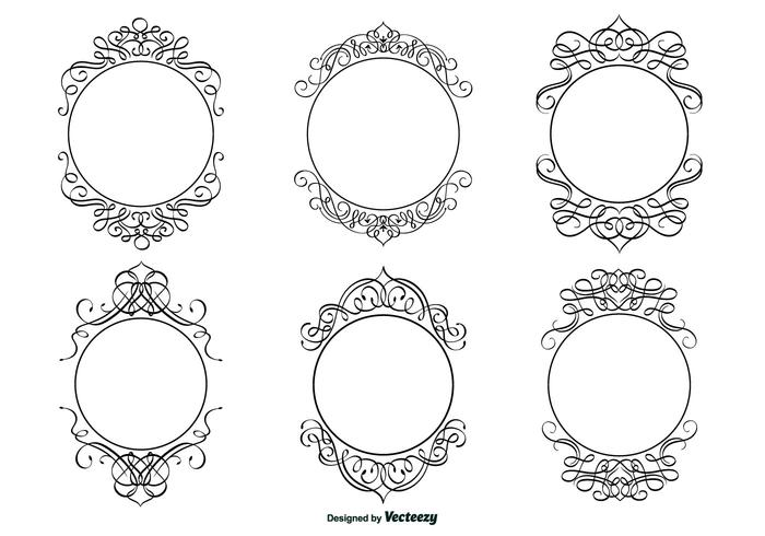 Decorative Calligraphic Frame Set