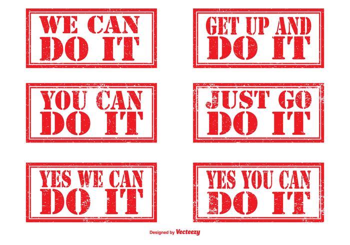 Motivational Rubber Stamp Set