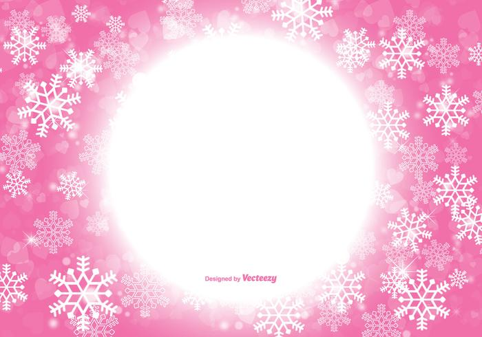 Beautiful Pink Christmas Snowflake Background