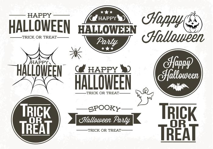 Typographic Halloween Labels