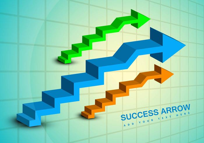 Success business arrow vector graphic
