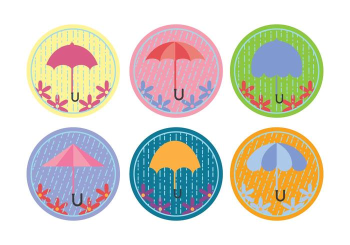 Spring Shower Umbrella Vectors