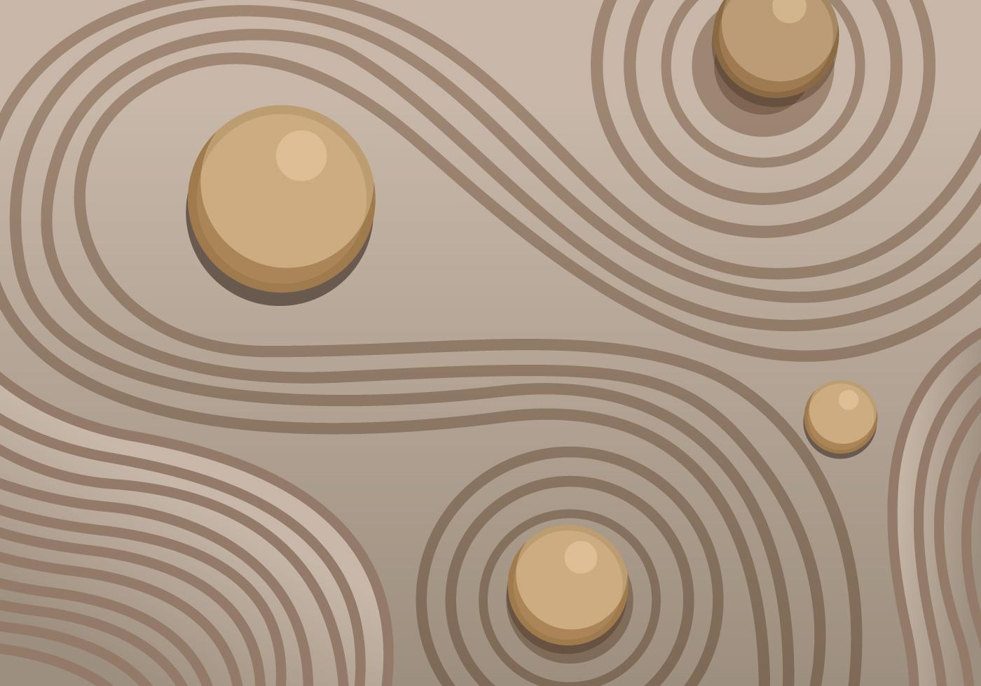 Zen garden sand vector - Download Free Vector Art, Stock